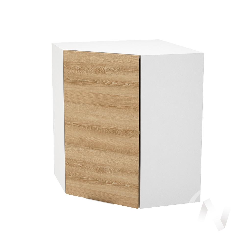 """Кухня """"Терра"""": Шкаф верхний угловой 590, ШВУ 590 (ель карпатская/корпус белый)"""