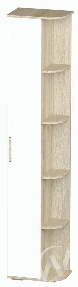 Шкаф однодверный с угловыми полками ПН-05 Сенди (дуб сонома/белый)