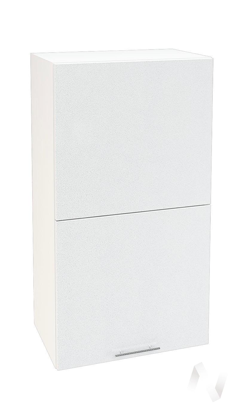 "Кухня ""Валерия-М"": Шкаф верхний горизонтальный 502, ШВГ 502 (белый металлик/корпус белый)"