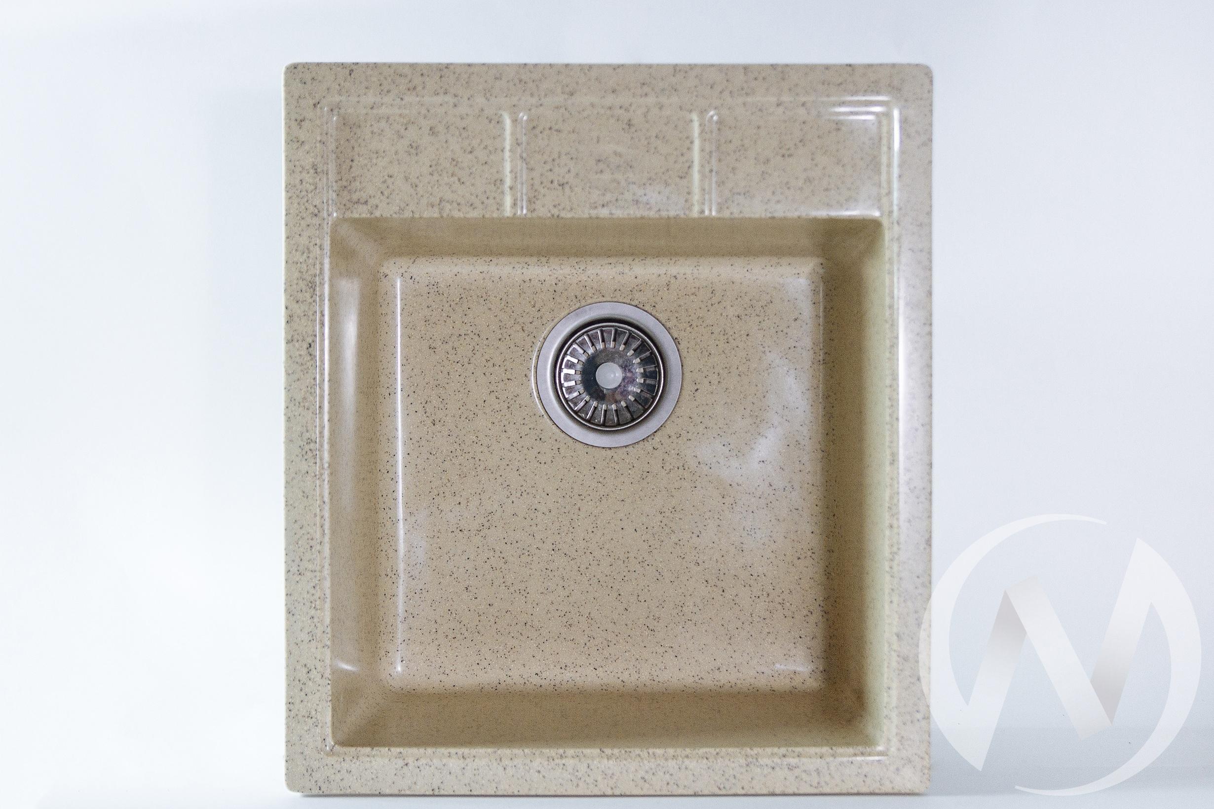 Мойка из искусственного камня Light 2 без сифона (песок)  в Томске — интернет магазин МИРА-мебель