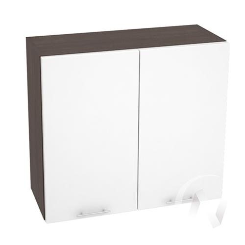 """Кухня """"Валерия-М"""": Шкаф верхний 800, ШВ 800 (белый глянец/корпус венге)"""