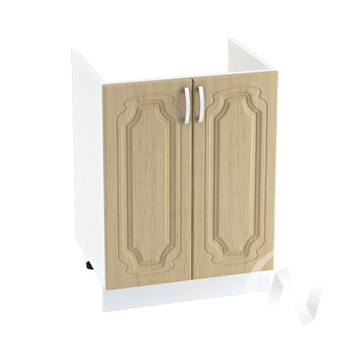 """Кухня """"Настя"""": Шкаф нижний под мойку 600, ШНМ 600 новый (Береза/корпус белый)"""