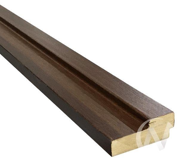 Коробка ламинированная квадратная, 70*26*2070, итальянский орех, с пазом