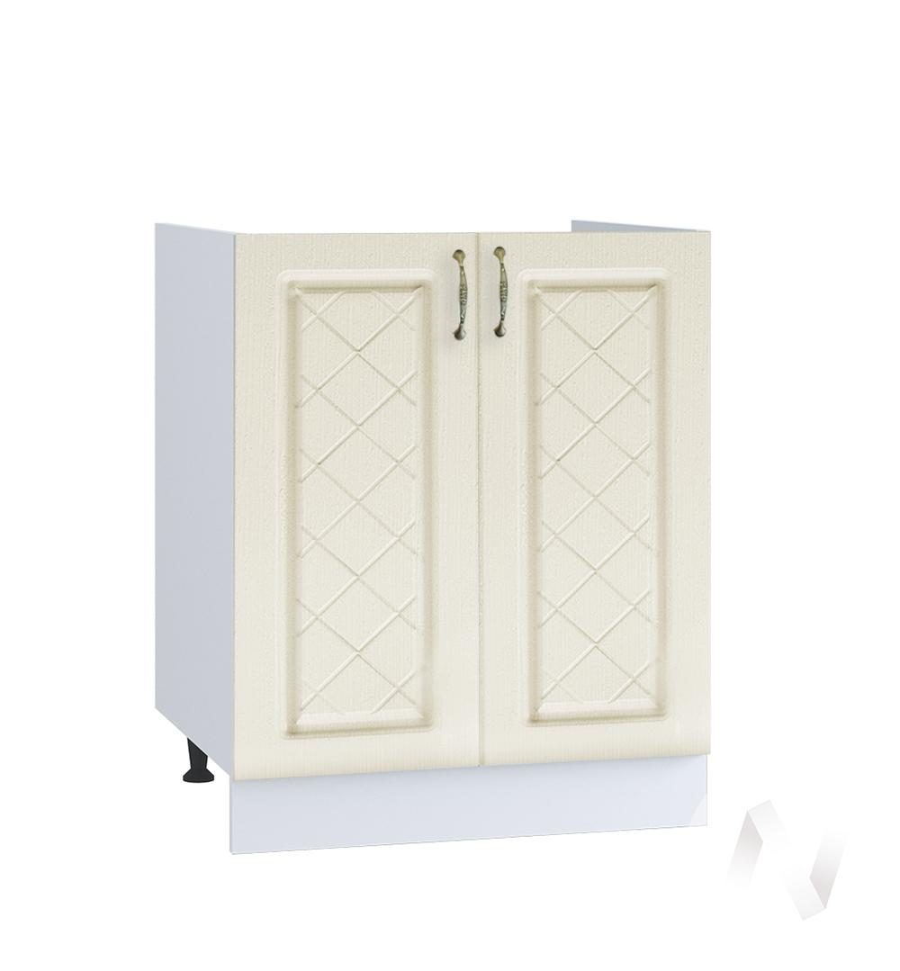 """Кухня """"Селена"""": Шкаф нижний под мойку 600, ШНМ 600 новый (Дуб ваниль/корпус белый)"""