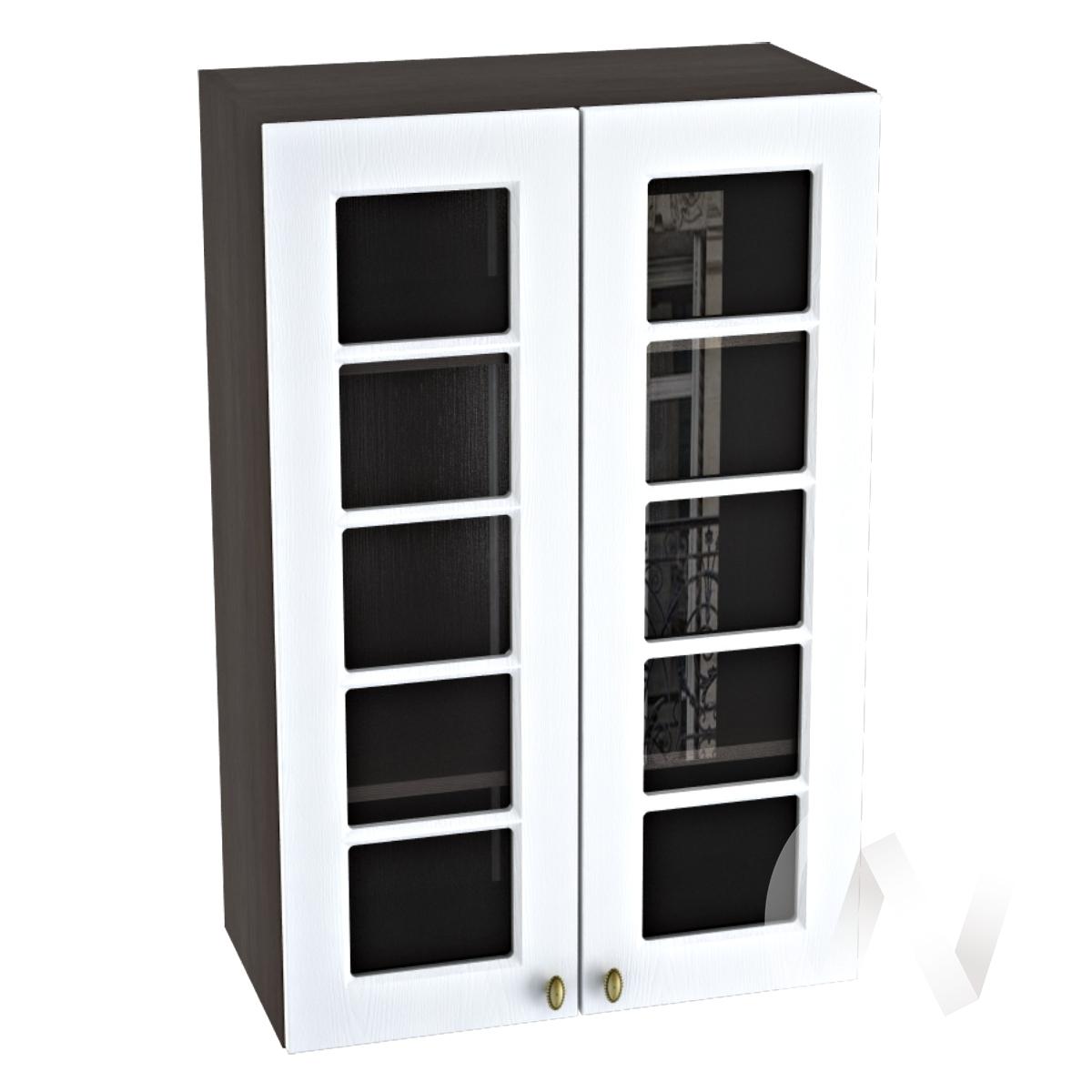 "Кухня ""Прованс"": Шкаф верхний 609, ШВC 609 (белое дерево/корпус венге)"