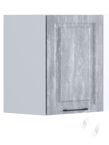 """Кухня """"Либерти"""": Шкаф верхний угловой 590, ШВУ 590 (Холст натуральный/корпус белый)"""