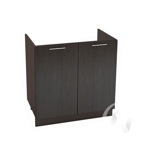 """Кухня """"Валерия-М"""": Шкаф нижний под мойку 800, ШНМ 800 новый (венге/корпус венге)"""