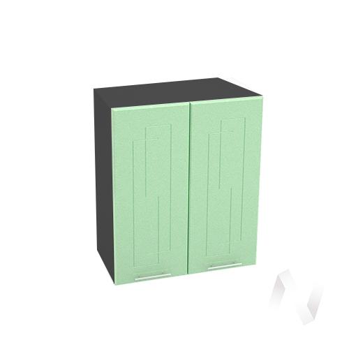 """Кухня """"Вега"""": Шкаф верхний 600, ШВ 600 новый (салатовый металлик/корпус венге)"""