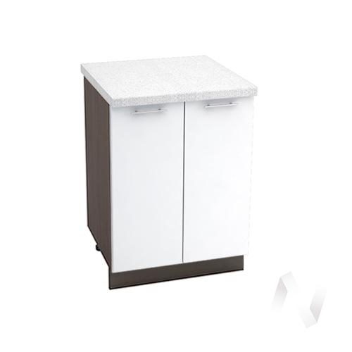 """Кухня """"Валерия-М"""": Шкаф нижний 600, ШН 600 новый (белый глянец/корпус венге)"""
