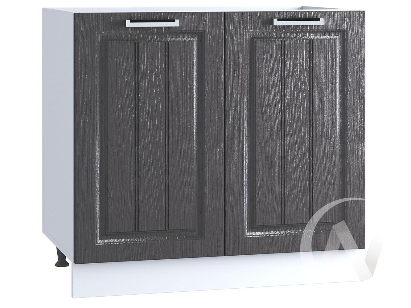 "Кухня ""Луксор"": Шкаф нижний под мойку 800, ШНМ 800 (Клен серый/корпус белый)"