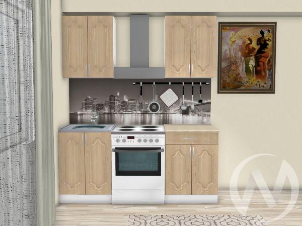 "Кухня ""Настя"" 1.2м (Береза/корпус белый) корпусно-фасадная"