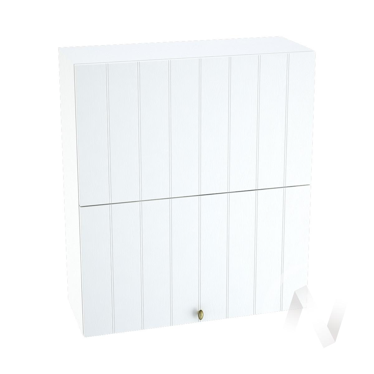 """Кухня """"Прованс"""": Шкаф верхний горизонтальный 802, ШВГ 802 (белое дерево/корпус белый)"""