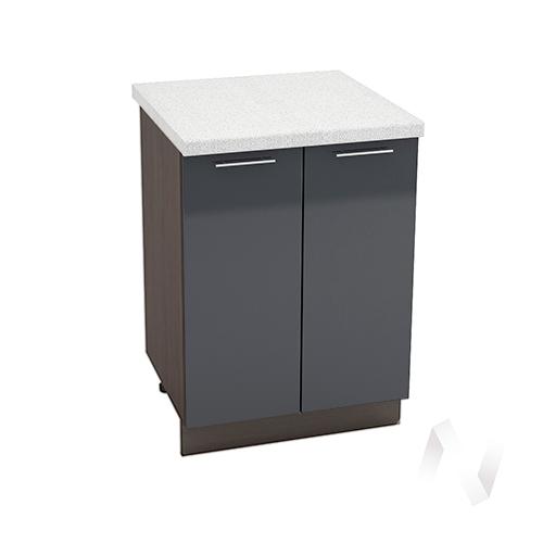"Кухня ""Валерия-М"": Шкаф нижний 600, ШН 600 новый (Антрацит глянец/корпус венге)"