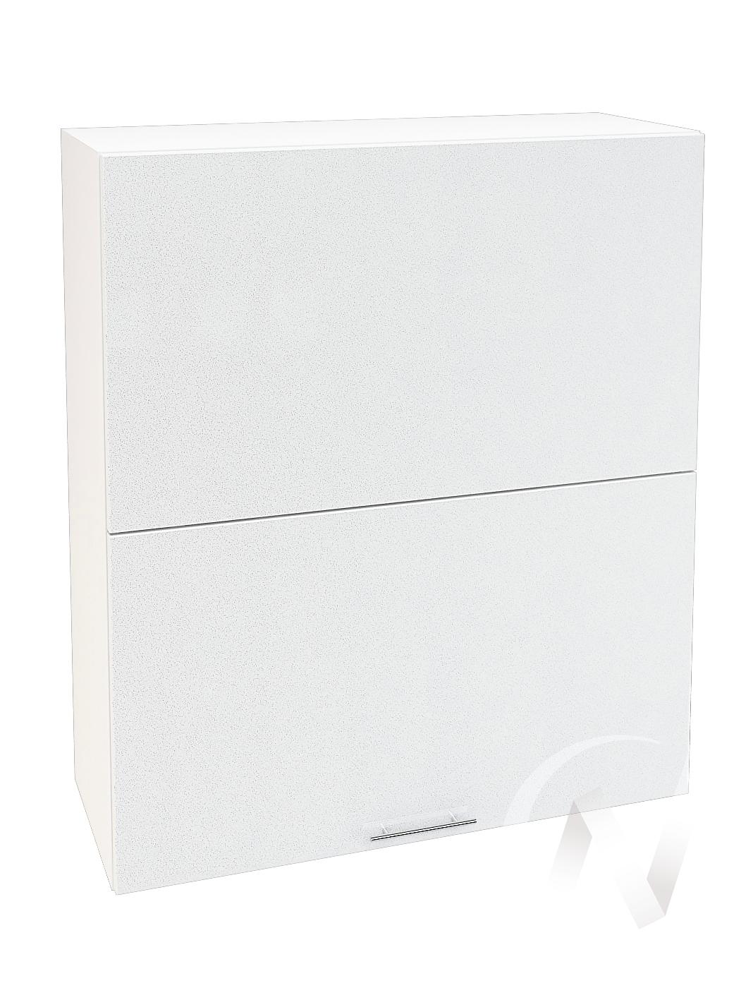 "Кухня ""Валерия-М"": Шкаф верхний горизонтальный 802, ШВГ 802 (белый металлик/корпус белый)"