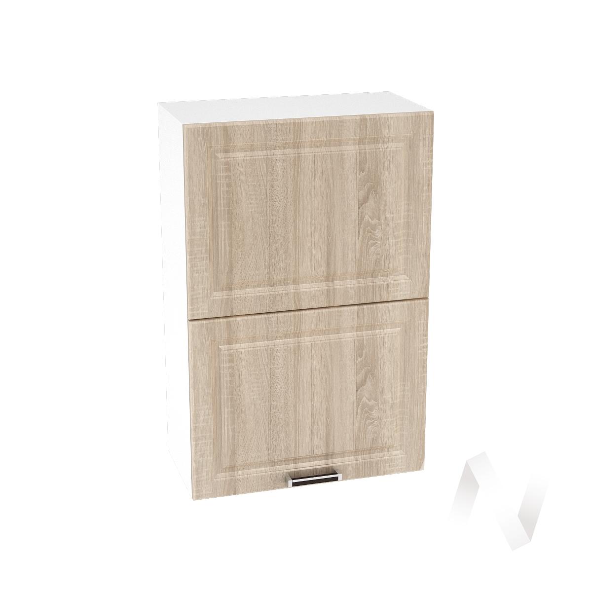 "Кухня ""Прага"": Шкаф верхний горизонтальный 602, ШВГ 602 (дуб сонома/корпус белый)"