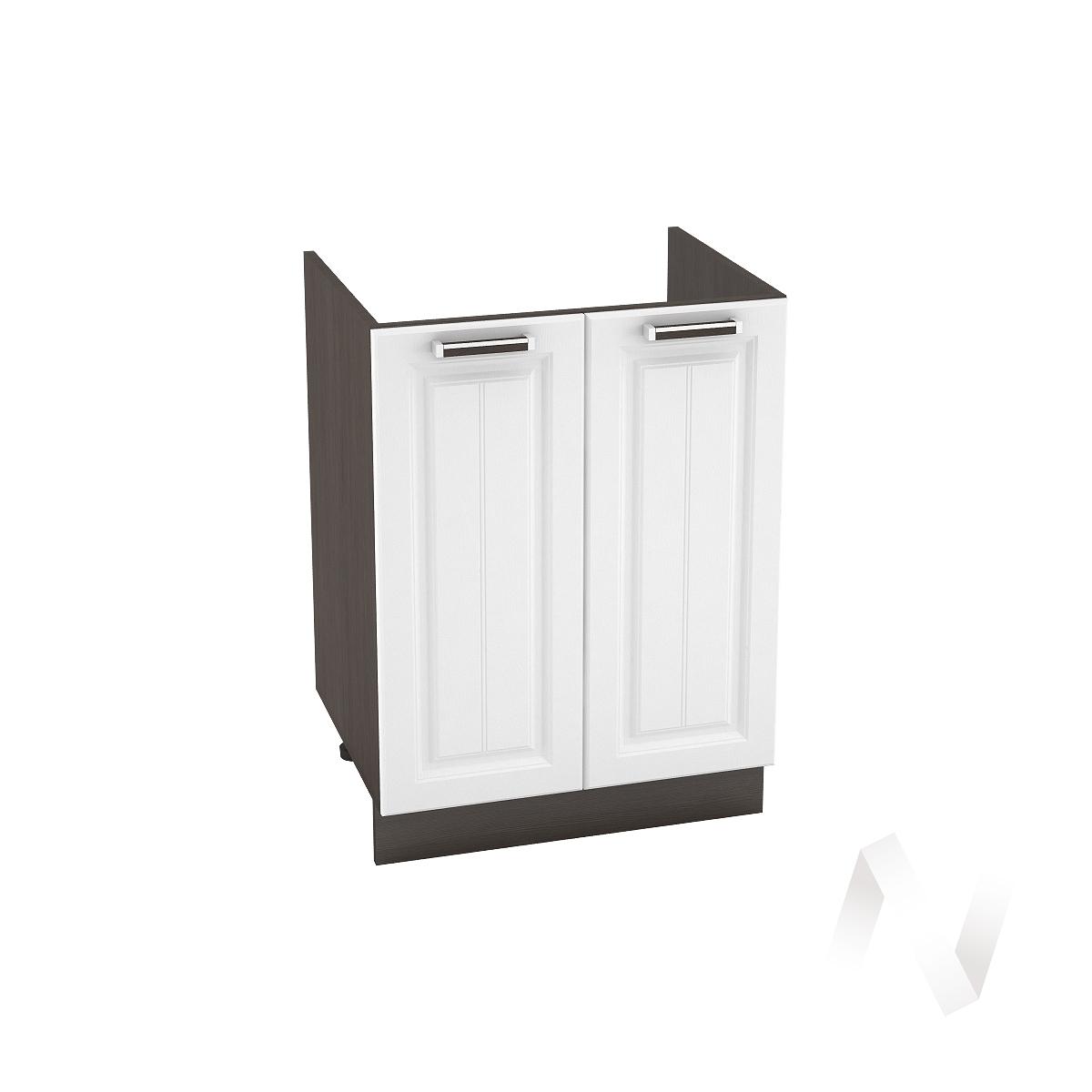 """Кухня """"Прага"""": Шкаф нижний под мойку 600, ШНМ 600 новый (белое дерево/корпус венге)"""