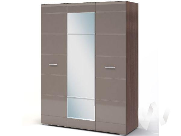 Шкаф 3-х створчатый Спальня Вегас (шимо темный/кофе с молоком)