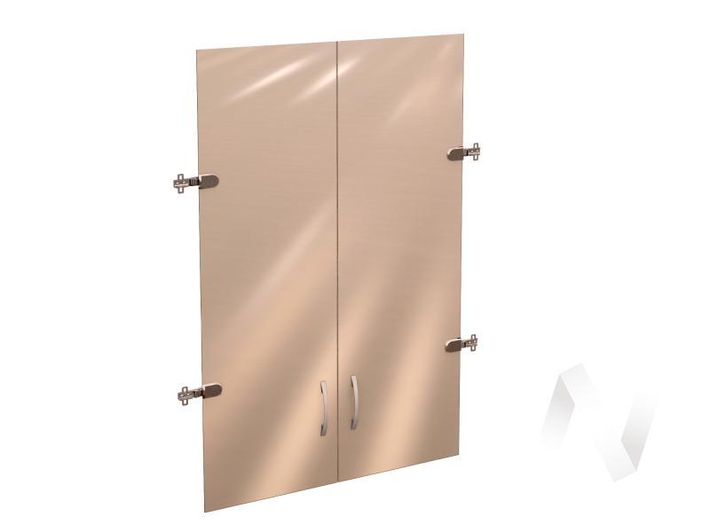 """Двери стеклянные 3 секции """"Рубин"""" 42.38"""