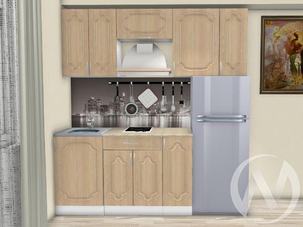 "Кухня ""Настя"" 2.0м (Береза/корпус белый) корпусно-фасадная"