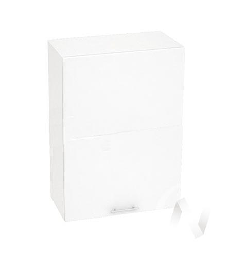 """Кухня """"Валерия-М"""": Шкаф верхний горизонтальный 602, ШВГ 602 (белый глянец/корпус белый)"""