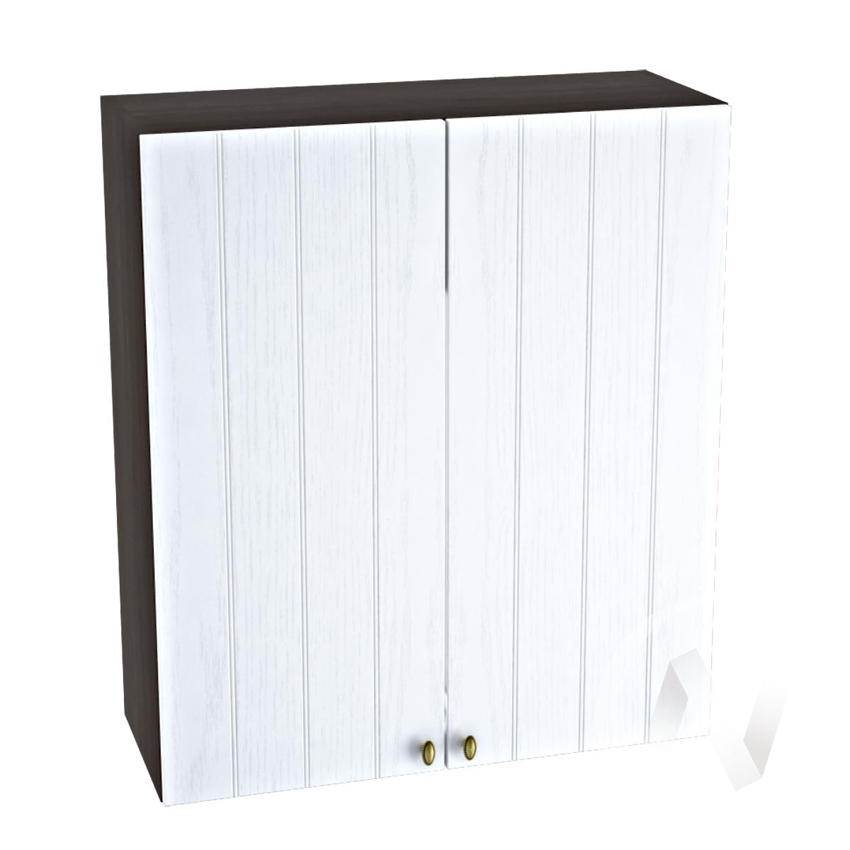 """Кухня """"Прованс"""": Шкаф верхний 809, ШВ 809 новый (белое дерево/корпус венге)"""