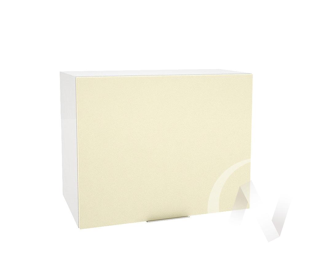"""Кухня """"Терра"""": Шкаф верхний горизонтальный 609, ШВГ 609 (ваниль софт/корпус белый)"""