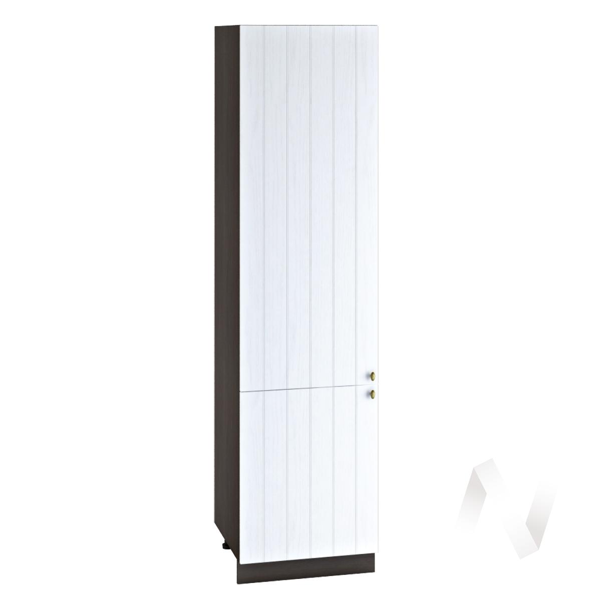 """Кухня """"Прованс"""": Шкаф пенал 600, ШП 600НМ (белое дерево/корпус венге)"""