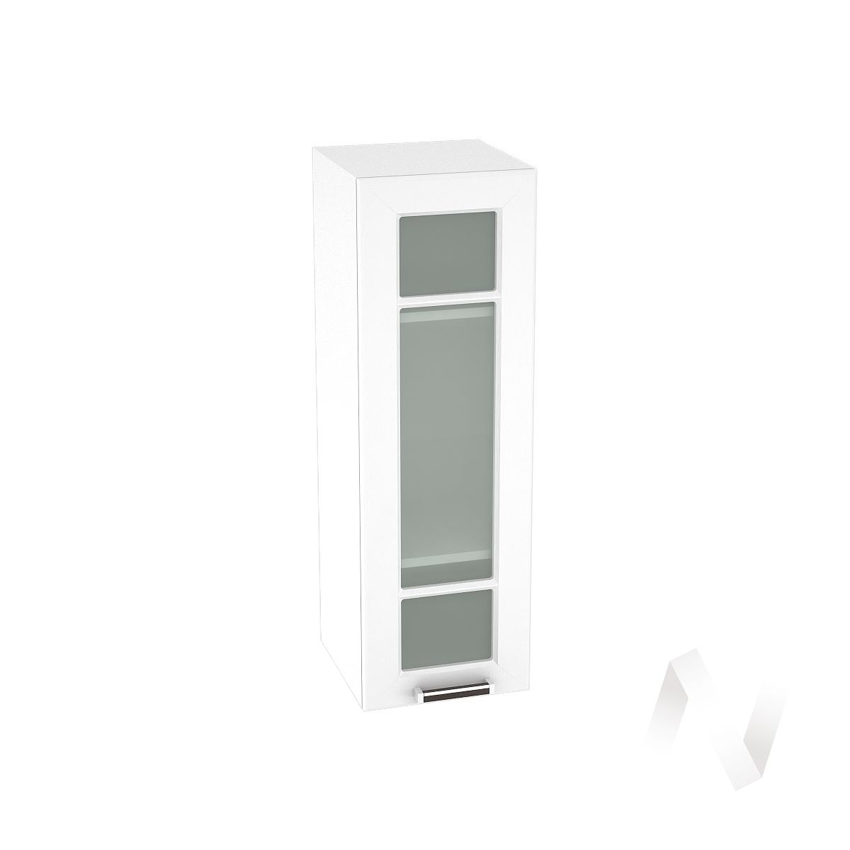 """Кухня """"Прага"""": Шкаф верхний со стеклом 309, ШВС 309 (белое дерево/корпус белый)"""