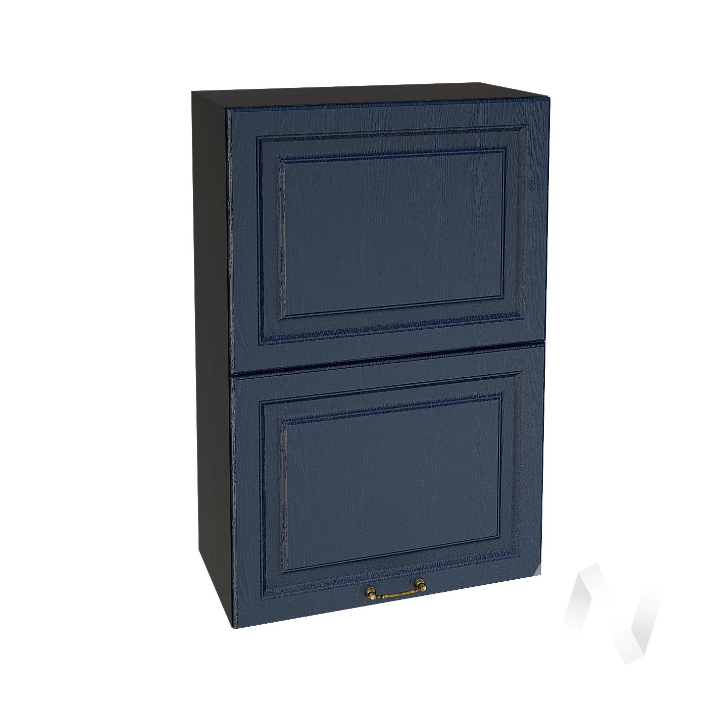 """Кухня """"Ницца"""": Шкаф верхний горизонтальный 602, ШВГ 602 (Дуб чернильный/корпус венге)"""