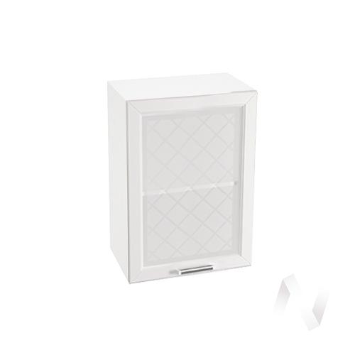 "Кухня ""Вена"": Шкаф верхний со стеклом 500, ШВС 500 (корпус белый)"