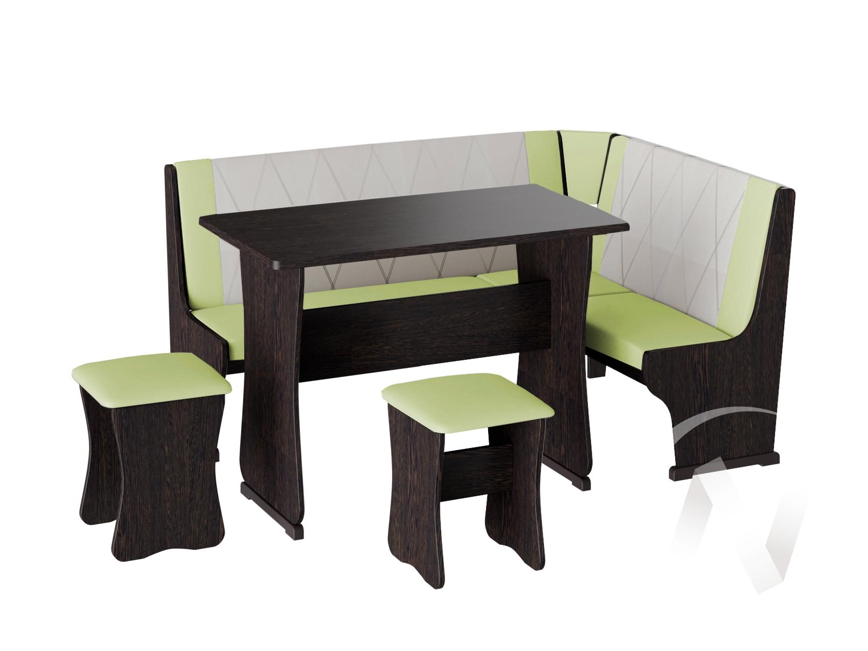 Кухонный уголок Гамма тип 2 кожзам (венге/фисташка,бежевый)  в Томске — интернет магазин МИРА-мебель