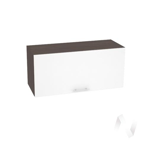 """(2)Кухня """"Валерия-М"""": Шкаф верхний горизонтальный 800, ШВГ 800 (белый глянец/корпус венге)"""