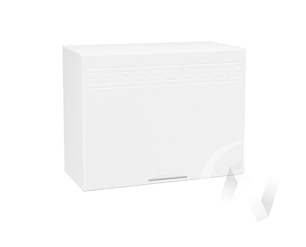 "Кухня ""Греция"": Шкаф верхний горизонтальный 609, ШВГ 609 (белый металлик/корпус белый)"
