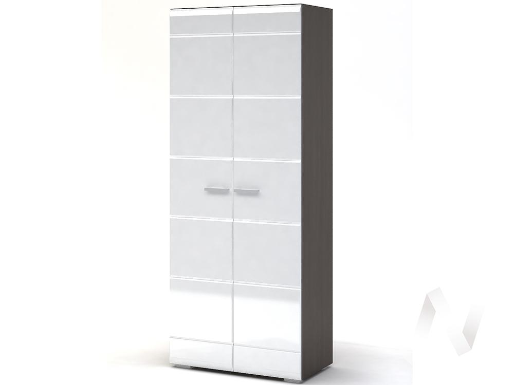 Шкаф 2-х створчатый Спальня Вегас (венге/белый глянец)