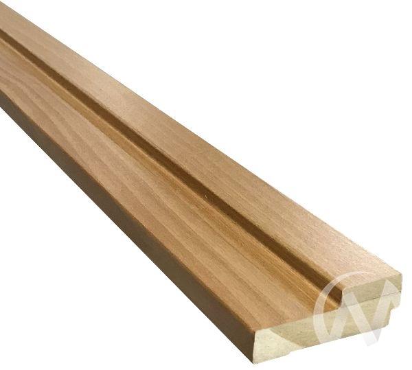 Коробка ламинированная квадратная, 70*26*2070, миланский орех, с пазом