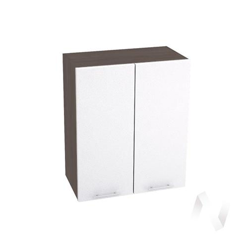 """Кухня """"Валерия-М"""": Шкаф верхний 600, ШВ 600 новый (белый металлик/корпус венге)"""