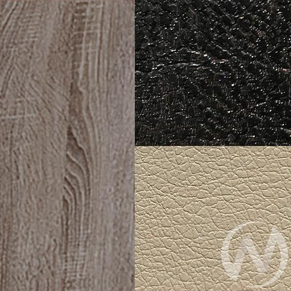 Обеденная группа тип 3 кожзам (дуб сонома трюфель/шоколад,бежевый)  в Томске — интернет магазин МИРА-мебель