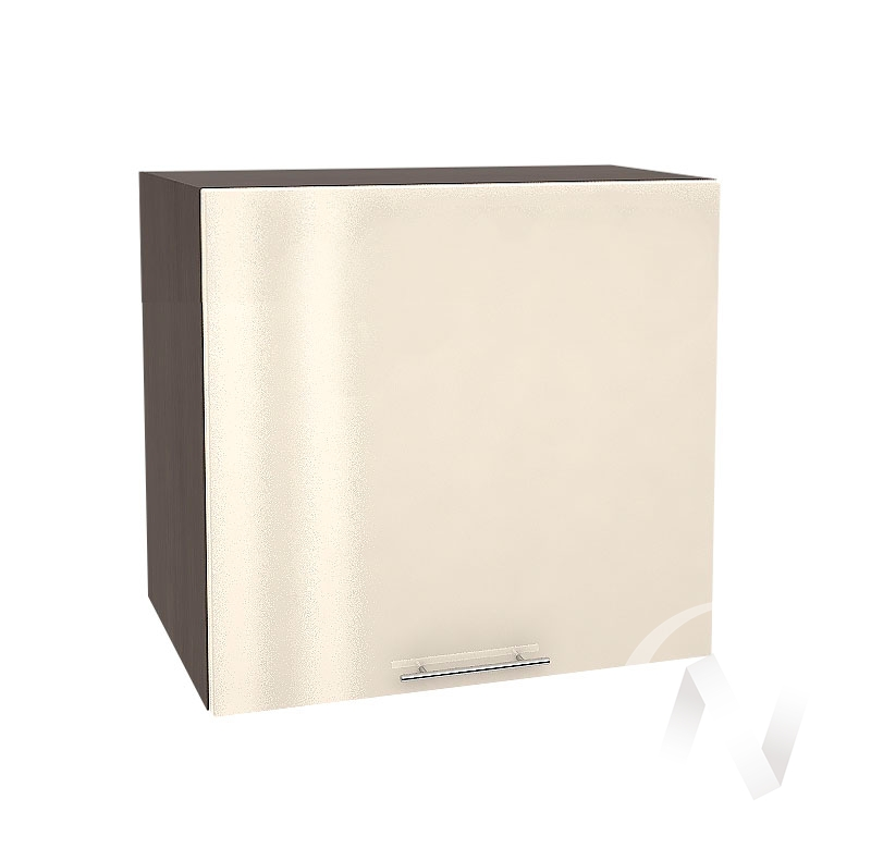 """Кухня """"Валерия-М"""": Шкаф верхний горизонтальный 509, ШВГ 509 (Ваниль глянец/корпус венге)"""