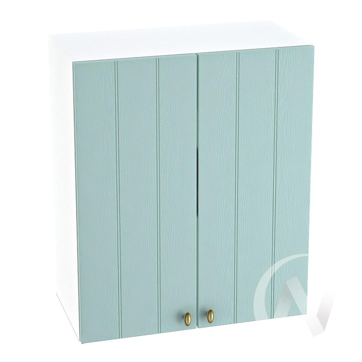 """Кухня """"Прованс"""": Шкаф верхний 600, ШВ 600 новый (голубой/корпус белый)"""