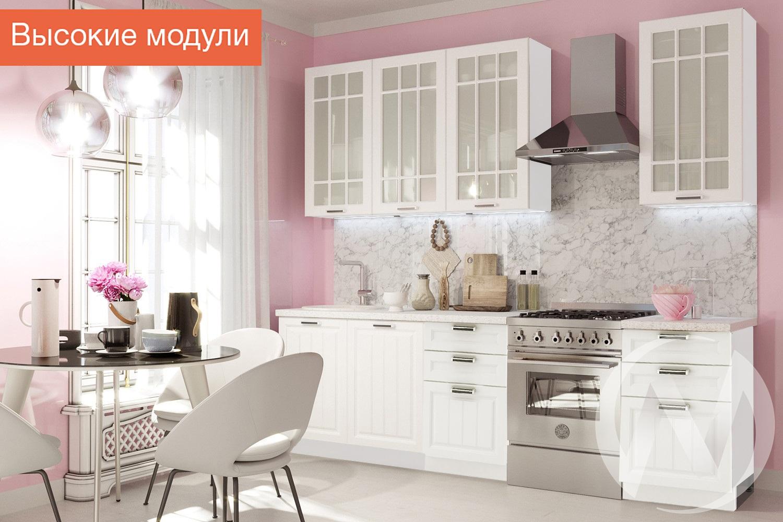 """Кухня """"Прага"""": высокие модули (белое дерево/корпус белый)"""