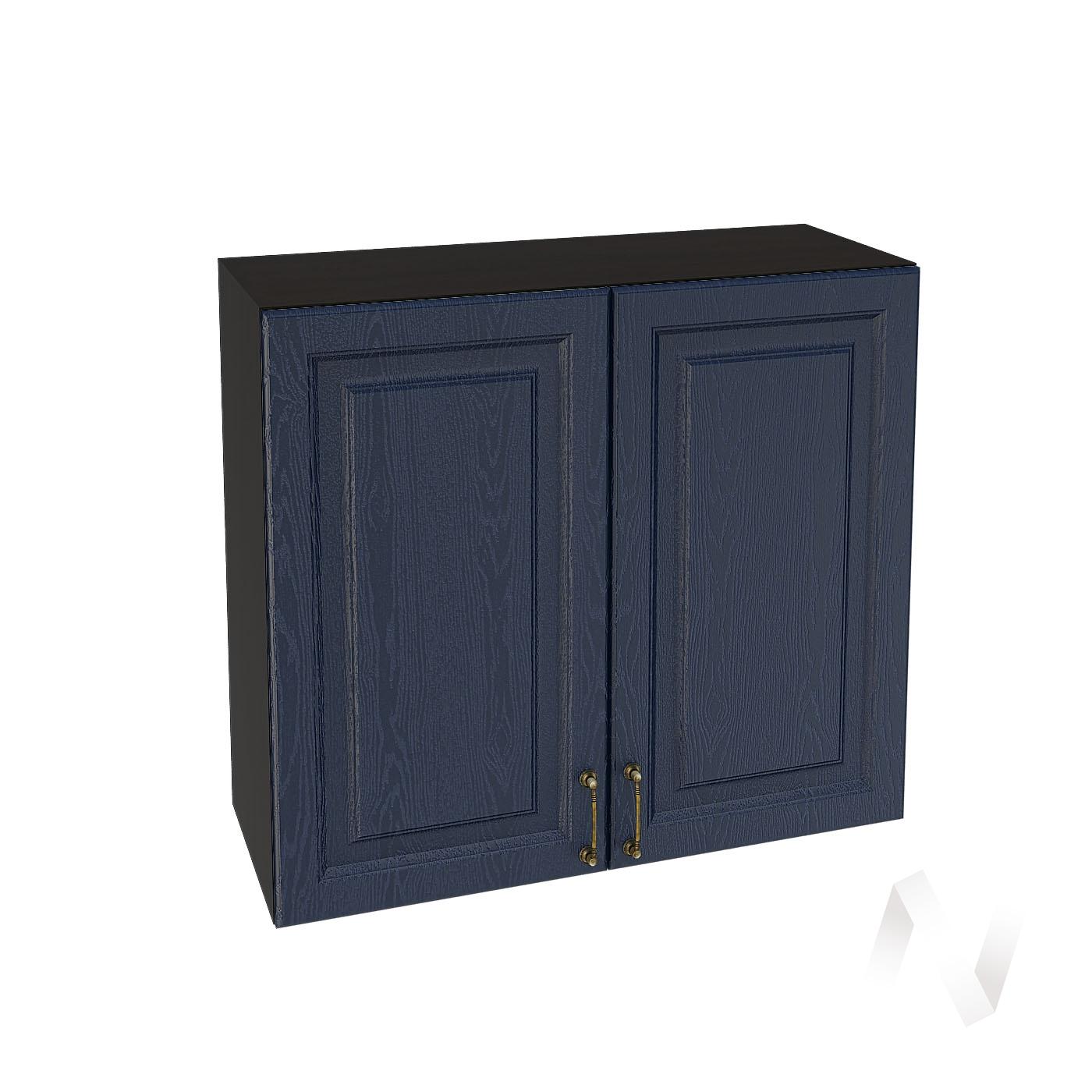 """Кухня """"Ницца"""": Шкаф верхний 800, ШВ 800 новый (Дуб чернильный/корпус венге)"""