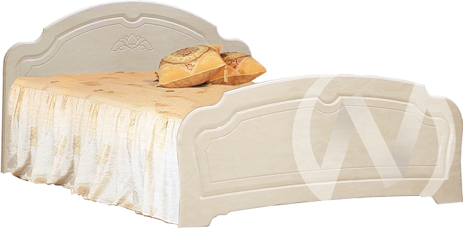 Валенсия Кровать №1 1,6  (бодега бежевый-клён)