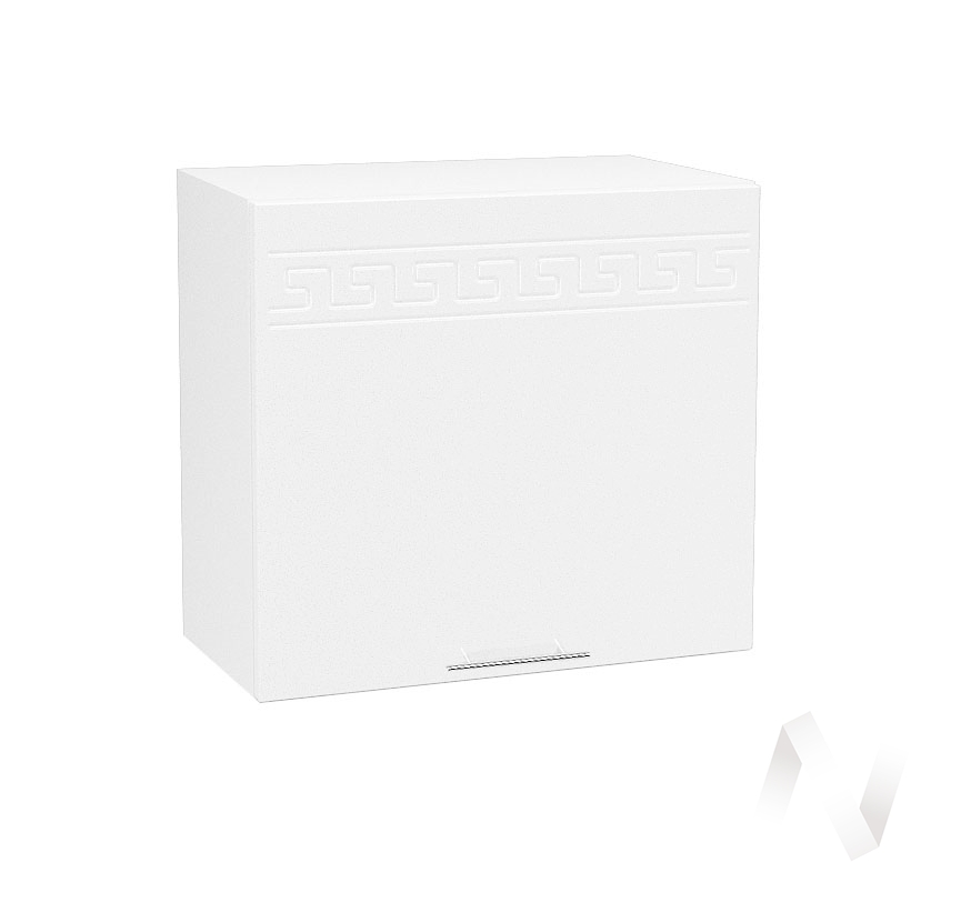 "Кухня ""Греция"": Шкаф верхний горизонтальный 509, ШВГ 509 (белый металлик/корпус белый)"