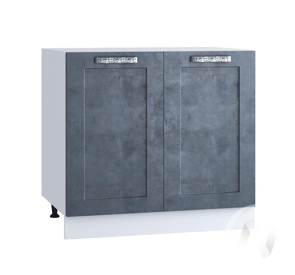 "Кухня ""Лофт"": Шкаф нижний 800, ШН 800 новый (Бетон графит/корпус белый)"