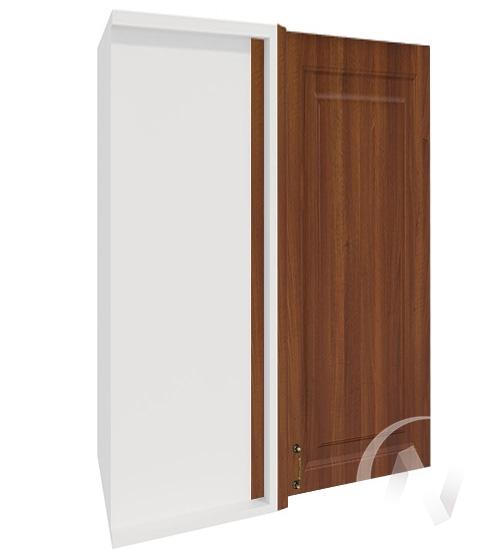 """Кухня """"Ницца"""": Шкаф верхний угловой 699, ШВУ 699 (Орех/корпус белый)"""