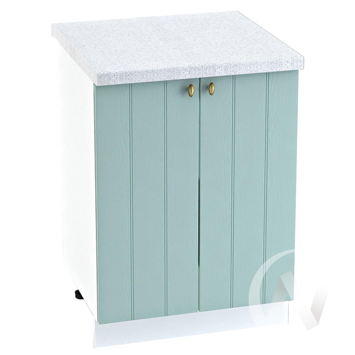 "Кухня ""Прованс"": Шкаф нижний 600, ШН 600 новый (голубой/корпус белый)"
