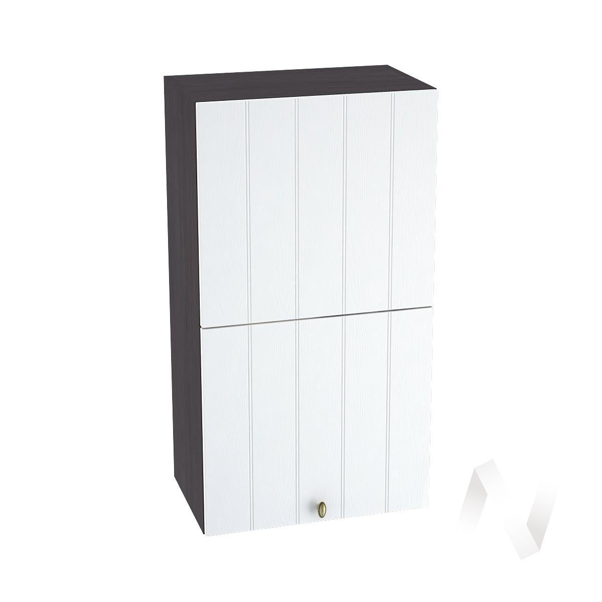 """Кухня """"Прованс"""": Шкаф верхний горизонтальный 502, ШВГ 502 (белое дерево/корпус венге)"""
