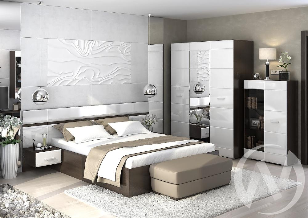 """Спальня """"Вегас"""" (Венге/Белый глянец)"""
