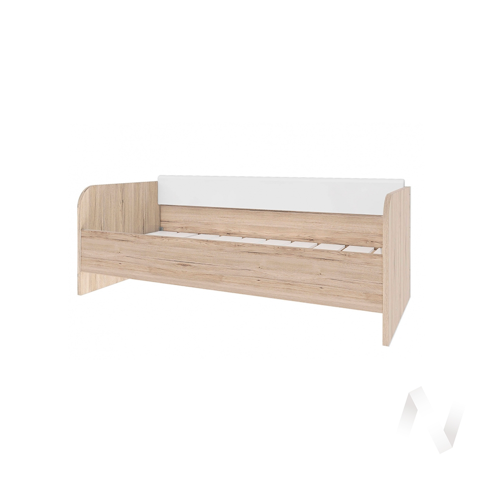 """Кровать с декоративной накладкой """"Венето"""" (Дуб санремо/Старбакс-13)"""