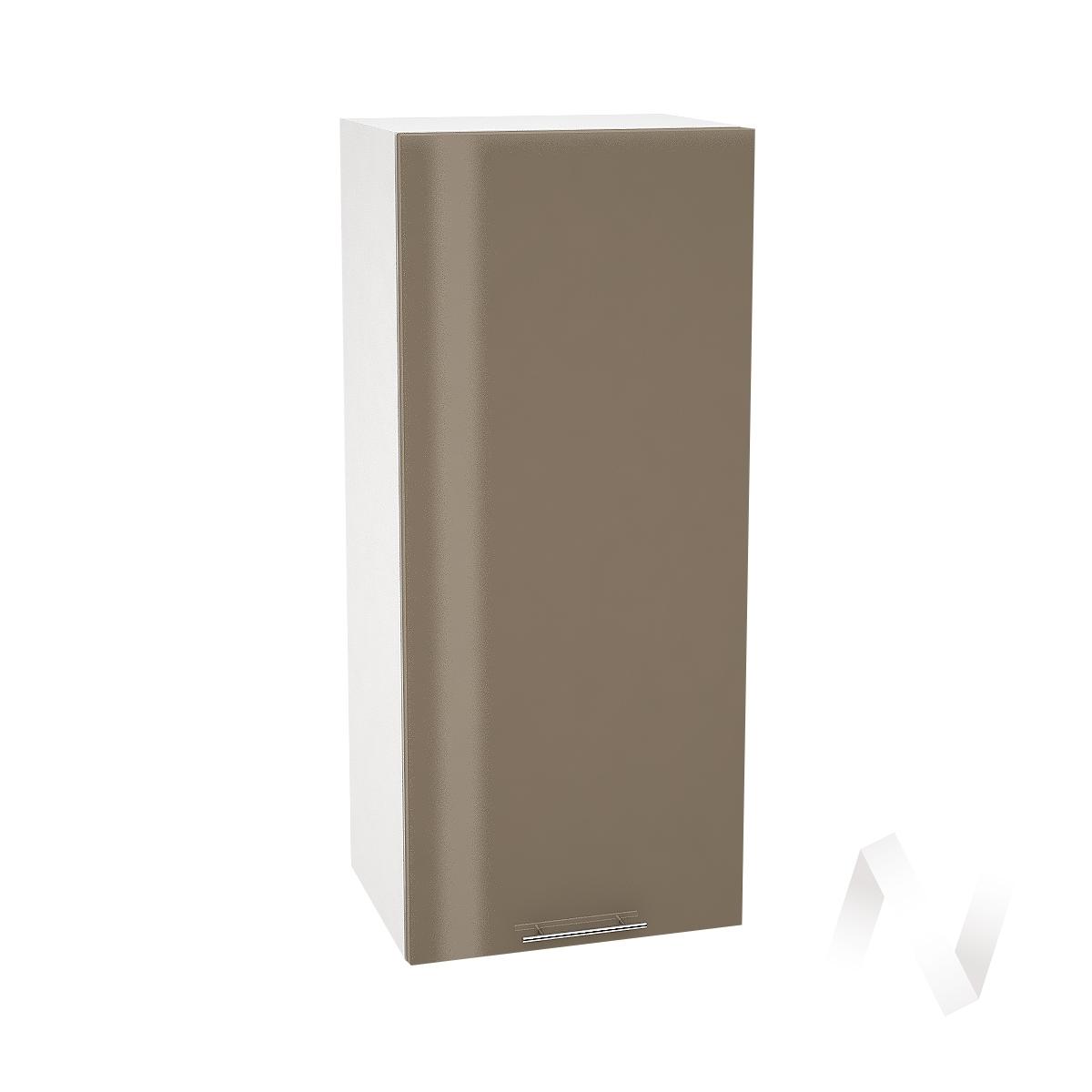 """Кухня """"Валерия-М"""": Шкаф верхний 409, ШВ 409 (Капучино глянец/корпус белый)"""